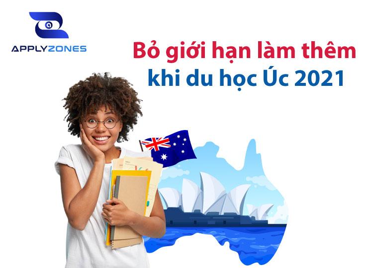 bở giới hạn làm thêm khi du học Úc