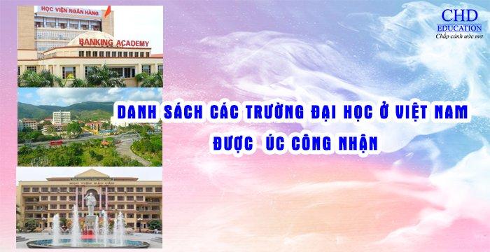 Phân loại các trường đại học tại Việt Nam được Úc công nhận