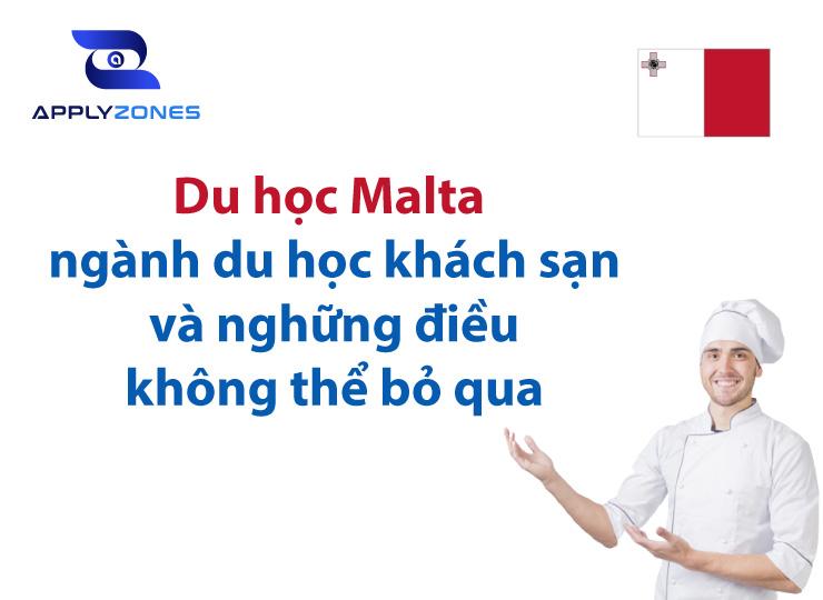 Du học Malta ngành du lịch khách sạn