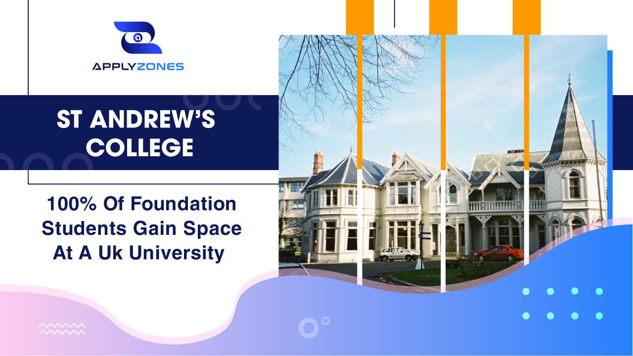 St Andrew's College - 100% of foundation students gain space at a UK university