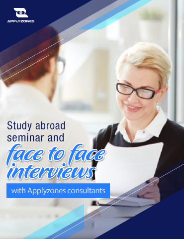 Study abroad seminar and face-to-face interviews with Applyzones consultants